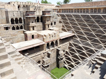 Terraces and Pavilion at Chand Baori step well, Abhaneri, India