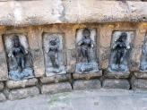 Some of the Yoginis which are carved into the inner walls of Chausathi Temple in India.