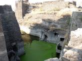 The Moat at Daulatabad Fort near Aurangabad in India.