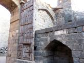 One of the many huge gates at Daulatabad Fort, India.