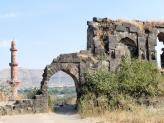 Daulatabad Fort and a ruined building, India.