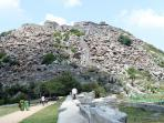 Gingee Fort amd a view of Krishnagiri Hillfort, India.