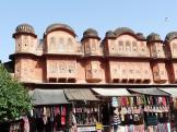 Hawa Mahal Bazaar at Jaipur, India.