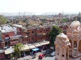 views of Jaipur from the Hawa Mahal,  Jaipur, India.