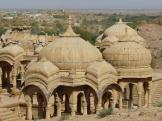 Bada Bagh Cenotaphs - lots of small domes, India