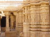 Carved pillars - Jain Temple Group, Jaisalmer in India