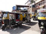 Jodhpur's auto-rickshaws - commonly known as Autos waiting for customers.