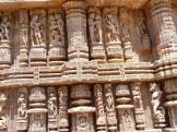 Carvings depicting peope enjoying themselves - Konark Sun Temple, India.