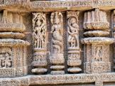 Sun Temple carvings at Konark in India.