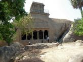 Mahishasuramardina Cave Temple at Mamallapuram, India.