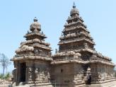 The two Shiva Shrines at Mamallapuram Shore Temple, India.