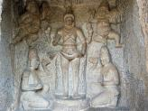 Trimurti Temple rock carvings, Mamallapuram, India.