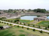 Royal Palace tank gardens - Mandu City Fort, India.