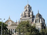 The magnificent Western Railway Building at Mumbai, India.