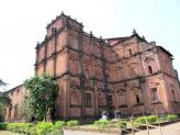 Whole view of the Basilica de Bom Jesus, Old Goa, India.