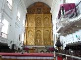 Se Cathedral  and its beautiful Altar, Old Goa, India.