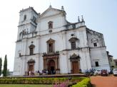 The Se Cathedral in Old Goa, India.