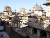 Jahangir Mahal from slightly above - Orchha