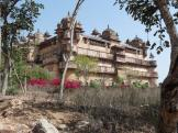Outisde view of Jahangir Mahal in Orchha, India