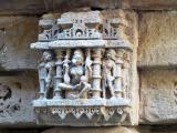 Very well carved features at Rani Ki Vav step well, Gujarat, India.