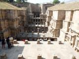 Looking down at part of Rani Ni Vav well in India.